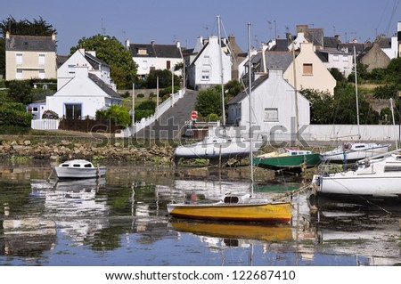 Port of Locmiqu�©lic near Port Louis, in the Morbihan department in Brittany in north-western France