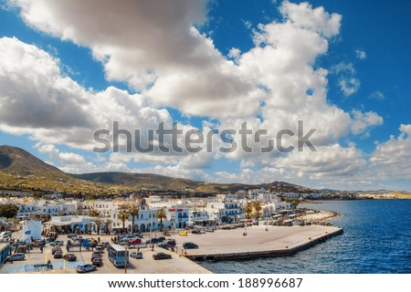 Port of Naoussa on Paros island, Greece