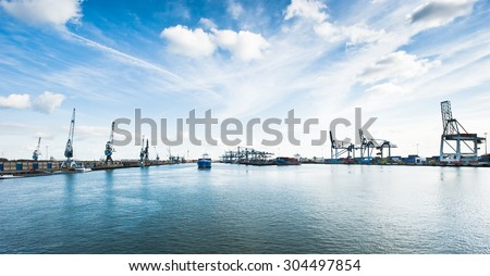 Port of Rotterdam - stock photo