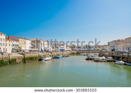Port of Saint Martin de Re at the Isle of Re (Ile de Re)