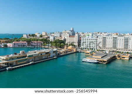 Port of San Juan, Puerto Rico - stock photo