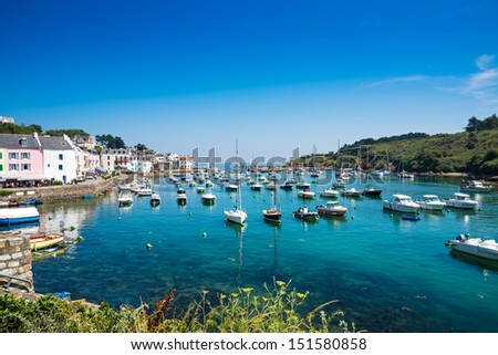 Port of Sauzon at island Belle Ile en Mer, France
