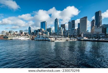 Port of Seattle - stock photo
