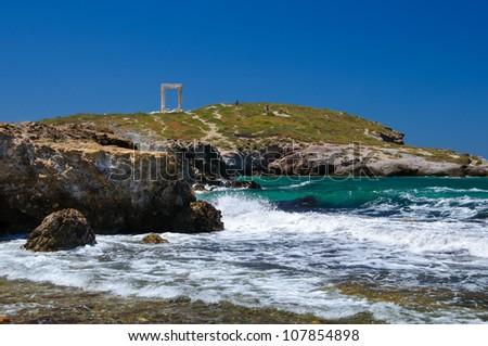 Porta gate in Naxos island, Cyclades, Greece - stock photo