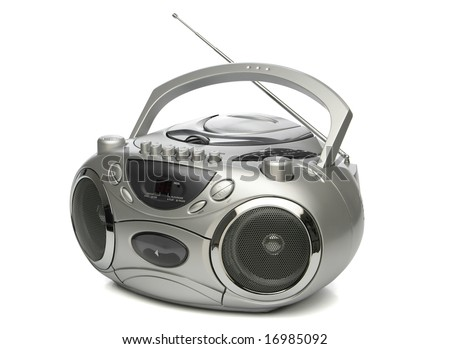 Portable cd mp3 player, from my objects series - stock photo