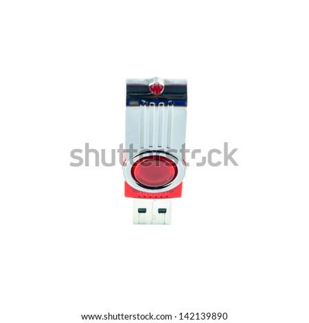 Portable flash usb drive - usb stick - stock photo