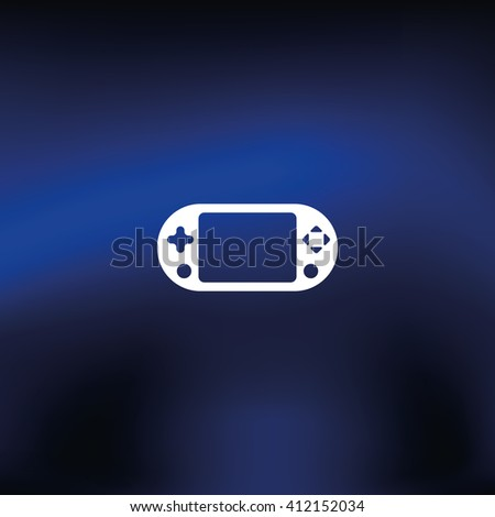 Portable game pad icon. - stock photo