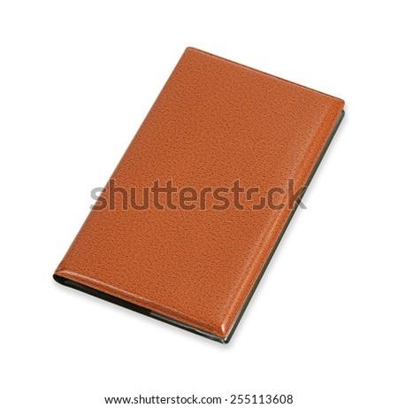 Portable notebook isolated on white background - stock photo