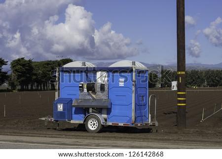 Portable Potties - stock photo