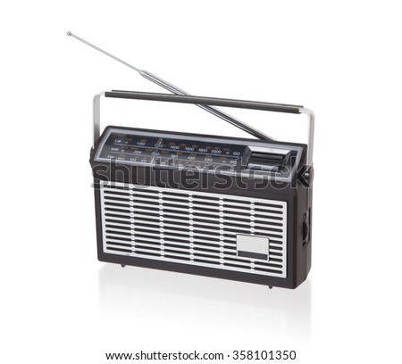Portable radio isolated on a white background