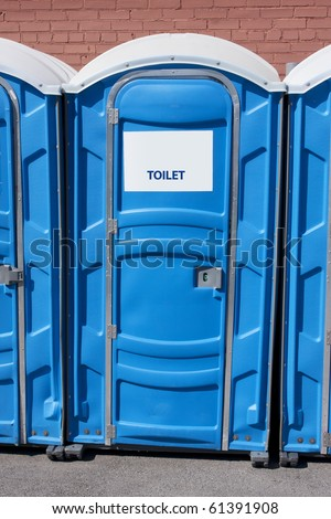 portable rest room - stock photo