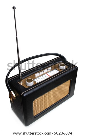 Portable retro radio
