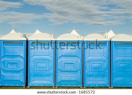 Portable Toilet, porta potty. - stock photo