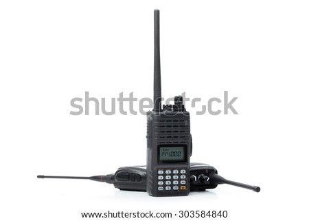 Portable walkie-talkie - stock photo