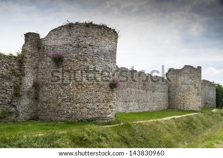 Portchester Castle, Portsmouth, England - stock photo