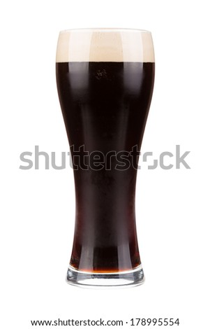 Porter beer glass - stock photo