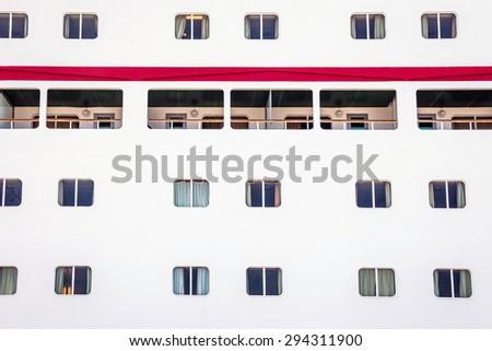 Portholes of Cruise ship - stock photo