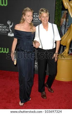 Portia de Rossi and Ellen DeGeneres at the 36th Annual Daytime Emmy Awards. Orpheum Theatre, Los Angeles, CA. 08-30-09
