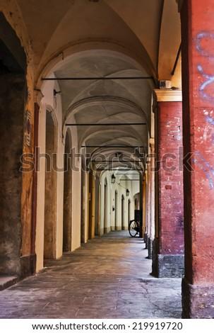 Porticos, Italy - stock photo