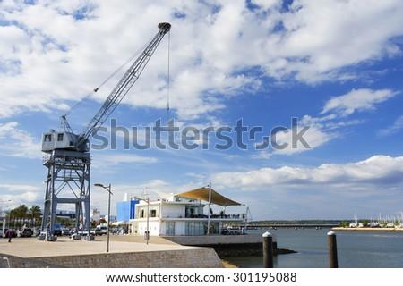 Portimao Harbor in Portugal, Algarve, Europe - stock photo