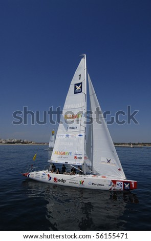 PORTIMAO, PORTUGAL - JUNE 23: T.Mirsky in action at World Match Racing Tour Cup -  June 23, 2010 in Portimao, Portugal.
