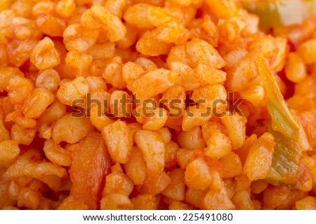 Portion of Bulgur (close-up shot) for use as background image or as texture - stock photo