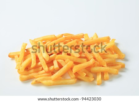 Portion of chips on white background