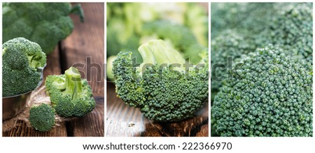 Portion of fresh Broccoli (as a collage) - stock photo
