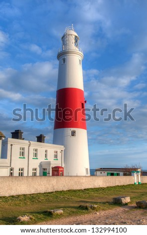 Portland Bill Lighthouse Dorset Jurassic Coast - World Heritage Site  - England UK