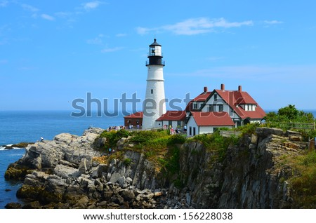 Portland Head Light - stock photo