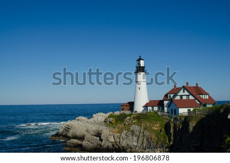 Portland Head Light, Cape Elizabeth, Maine USA
