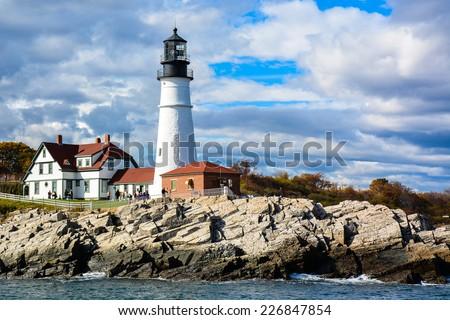 Portland Head Light - Portland, Maine - stock photo