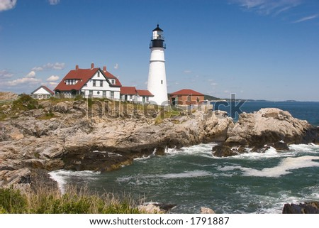 Portland Head Lighthouse on the Coast of Maine