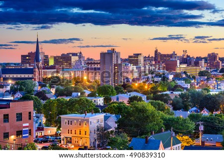 Portland Maine Usa Downtown Skyline Stock Photo 490839310 Shutterstock