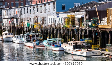 Maine coast stock images royalty free images vectors for Portland maine fishing