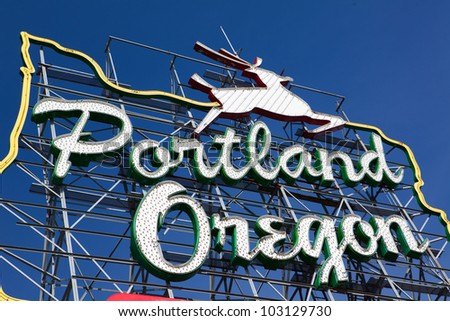 Portland. Oregon sign - stock photo