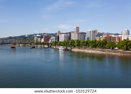 Portland. Oregon skyline