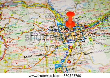 Portland Map Stock Images RoyaltyFree Images Vectors - Portland usa map