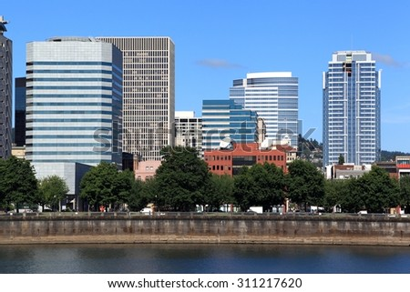 Portland Skyline, Oregon
