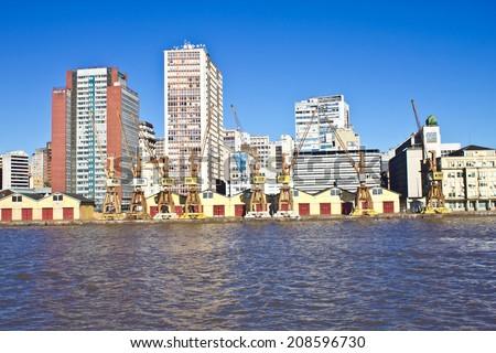 Porto Alegre Port - Rio Grande do Sul, Brazil - stock photo