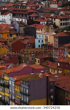 Porto buildings, landmarks and rooftops, Portugal