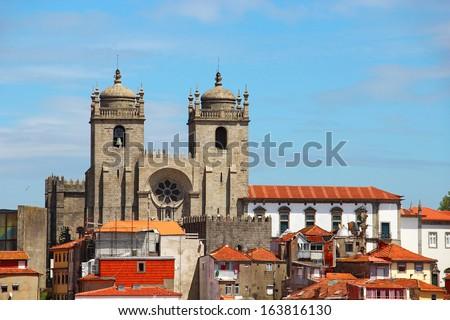 Porto Cathedral (Se do Porto), Portugal  - stock photo