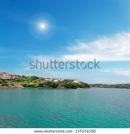 Porto Cervo under a shining sun - stock photo