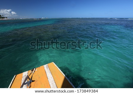 Porto de Galinhas, Pernambuco - Brazil. Brazilian beach - stock photo