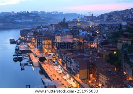 Porto in the evening, Portugal