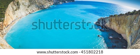 Porto Katsiki, beautiful beach in Greece.
