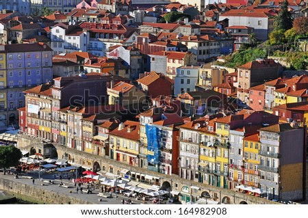 PORTO, PORTUGAL - NOVEMBER 25: Panorama of riviera of Porto city the viewpoint on November 25, 2013 in Porto,Portugal. Porto is one of the oldest European cities and the 2nd largest city of Portugal.