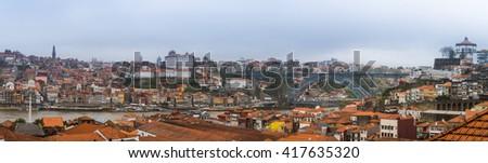 Porto, Portugal old town on the Douro River. - stock photo