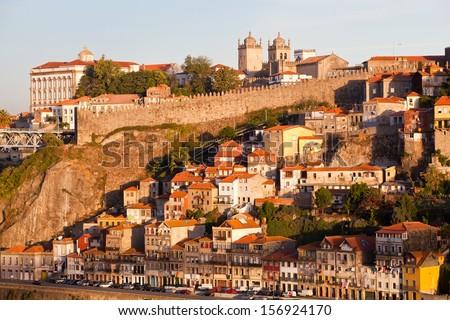 Porto, Portugal The historic centre of Porto was declared a World Heritage Site by UNESCO in 1996 - stock photo