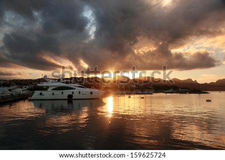 Porto Rotondo harbor in Sardinia, Costa Smeralda, Italy - stock photo